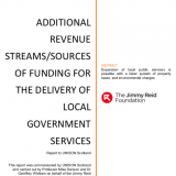 "Front cover of the ""Additional revenue streams/sources of funding for the delivery of local government services"" report"
